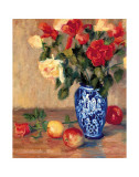 Roses in a Mexican Vase Prints by B. Oliver
