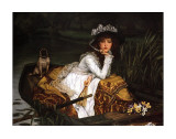 Lady in a Boat Prints by James Tissot