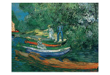 Bank of the Oise at Auvers, c.1890 Poster van Vincent van Gogh