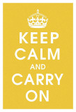 Keep Calm (mustard) Poster