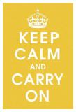Keep Calm (mustard) Umění