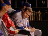 Texas Rangers v San Francisco Giants, Game 1: Josh Hamilton Photographic Print by Jed Jacobsohn