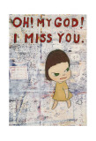 Oh! My God! I Miss You! c.2001 Poster by Yoshitomo Nara