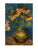 Crown Imperial Fritillaries in a Copper Vase, c.1886 Posters by Vincent van Gogh