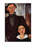Portrait of Jacques and Berthe Lipchitz Prints by Amedeo Modigliani