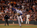 Texas Rangers v San Francisco Giants, Game 1: Elvis Andrus Photographic Print by Jed Jacobsohn