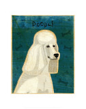 Poodle (white) Lmina por John Golden
