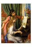 Muchachas al piano Láminas por Pierre-Auguste Renoir