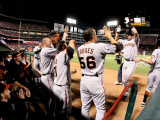 San Francisco Giants v Texas Rangers, Game 4: Buster Posey Photographic Print by  Elsa