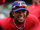 Texas Rangers v San Francisco Giants, Game 2: Elvis Andrus Photographic Print by Doug Pensinger