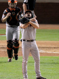 San Francisco Giants v Texas Rangers, Game 4: Brian Wilson,Buster Posey Photographic Print by Adin Shade