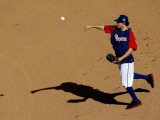 Texas Rangers v. San Francisco Giants, Game 5:  Infielder Ian Kinsler Photographic Print by Christian Petersen