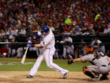 San Francisco Giants v Texas Rangers, Game 3: Josh Hamilton Photographic Print by Elsa .