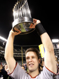 Texas Rangers v. San Francisco Giants, Game 5:  Buster Posey Photographic Print by Ronald Martinez
