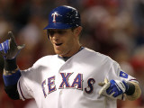 San Francisco Giants v Texas Rangers, Game 3: Josh Hamilton Photographic Print by Ronald Martinez