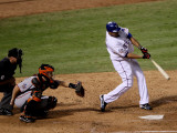 Texas Rangers v. San Francisco Giants, Game 5:  Nelson Cruz Photographic Print by Elsa .