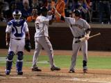 San Francisco Giants v Texas Rangers, Game 4: Edgar Renteria,Freddy Sanchez Photographic Print by Doug Pensinger