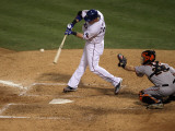 San Francisco Giants v Texas Rangers, Game 3: Josh Hamilton Photographic Print by Stephen Dunn
