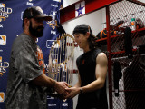 Texas Rangers v. San Francisco Giants, Game 5:  (L-R) Brian Wilson and Tim Lincecum Photographic Print by  Pool