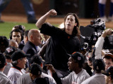 Texas Rangers v. San Francisco Giants, Game 5:  Pitcher Tim Lincecum Photographic Print by Christian Petersen