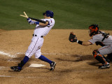 San Francisco Giants v Texas Rangers, Game 3: Ian Kinsler Photographic Print by Stephen Dunn
