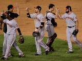 San Francisco Giants v Texas Rangers, Game 4 Photographic Print by Stephen Dunn
