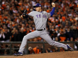 Texas Rangers v San Francisco Giants, Game 2: Derek Holland Photographic Print by Justin Sullivan