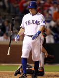 San Francisco Giants v Texas Rangers, Game 3: Ian Kinsler Photographic Print by Ronald Martinez