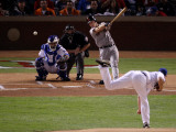 Texas Rangers v. San Francisco Giants, Game 5:  Buster Posey Photographic Print by Christian Petersen
