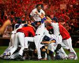 The Texas Rangers Celebrate winning the 2010 ALCS Photo