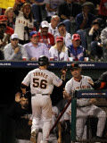 San Francisco Giants v Texas Rangers, Game 3: Andres Torres,Bruce Bochy Photographic Print by Ronald Martinez