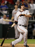 San Francisco Giants v Texas Rangers, Game 3: Aubrey Huff Photographic Print by Ronald Martinez