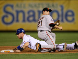 San Francisco Giants v Texas Rangers, Game 4: Josh Hamilton,Freddy Sanchez Photographic Print by  Elsa