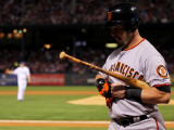 Texas Rangers v. San Francisco Giants, Game 5:  Aaron Rowand Photographic Print by Doug Pensinger