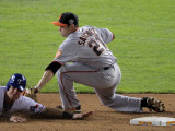 San Francisco Giants v Texas Rangers, Game 4: Josh Hamilton,Freddy Sanchez Photographic Print by Doug Pensinger