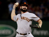 San Francisco Giants v Texas Rangers, Game 4: Brian Wilson Photographic Print by Elsa .