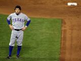 Texas Rangers v San Francisco Giants, Game 2: Ian Kinsler Photographic Print by Jed Jacobsohn