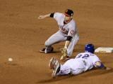 San Francisco Giants v Texas Rangers, Game 4: Josh Hamilton,Freddy Sanchez Photographic Print by Stephen Dunn