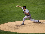 San Francisco Giants v Texas Rangers, Game 4: Brian Wilson Photographic Print by Stephen Dunn