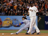 Texas Rangers v San Francisco Giants, Game 2: Elvis Andrus Photographic Print by Justin Sullivan