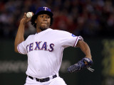 Texas Rangers v. San Francisco Giants, Game 5:  Neftali Feliz Photographic Print by Doug Pensinger