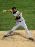 San Francisco Giants v Texas Rangers, Game 4: Brian Wilson Photographic Print by Ronald Martinez