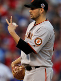 San Francisco Giants v Texas Rangers, Game 3: Jonathan Sanchez Photographic Print by Ronald Martinez