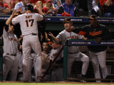 San Francisco Giants v Texas Rangers, Game 4: Aubrey Huff Photographic Print by Christian Petersen