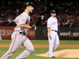 San Francisco Giants v Texas Rangers, Game 4: Buster Posey,Darren O'Day Photographic Print by  Elsa