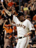Texas Rangers v San Francisco Giants, Game 2: Aubrey Huff Photographic Print by Justin Sullivan