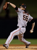 Texas Rangers v. San Francisco Giants, Game 5:  Starting pitcher Tim Lincecum Photographic PrintDoug Pensinger