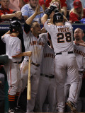 San Francisco Giants v Texas Rangers, Game 4: Buster Posey Photographic Print by Christian Petersen