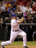 Texas Rangers v. San Francisco Giants, Game 5:  Michael Young Photographic Print by Ronald Martinez