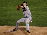 Texas Rangers v. San Francisco Giants, Game 5:  Starting pitcher Tim Lincecum Photographic Print by Stephen Dunn